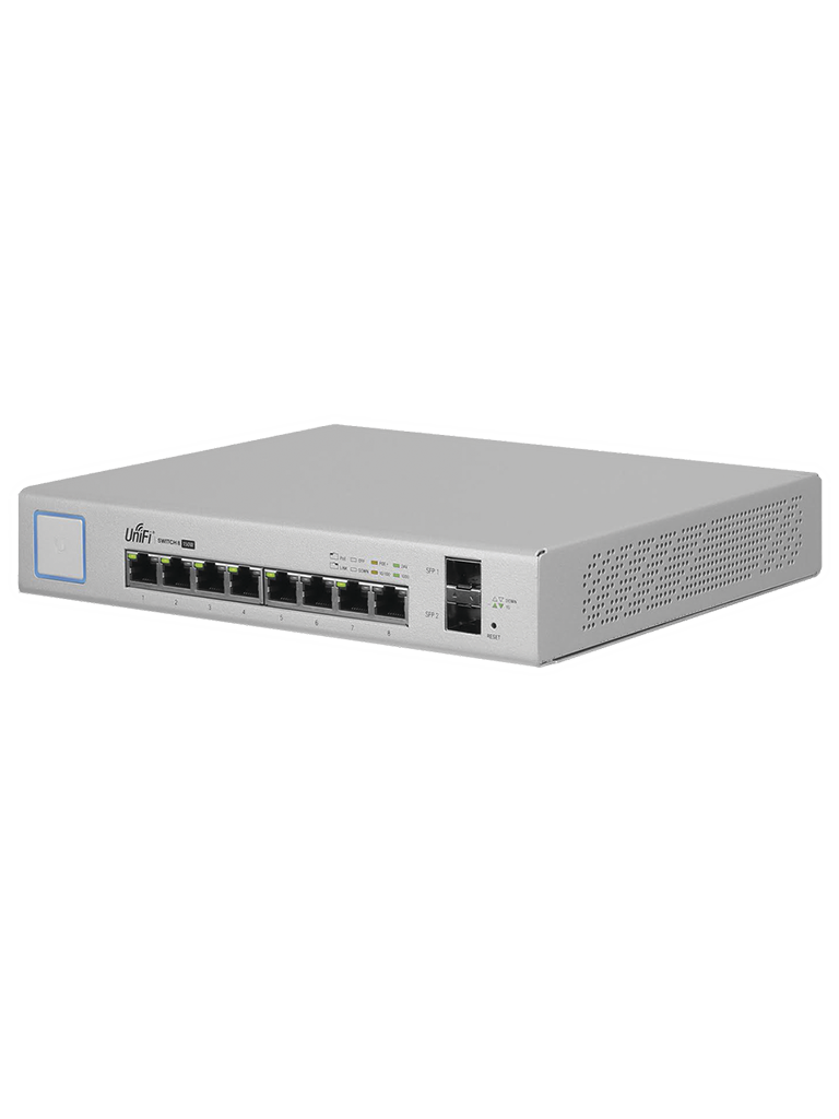 UBIQUITI US8150W- UNIFI SWITCH GIGABIT POE 150W/ 8 PUERTOS ETHERNET/ 2 PUERTOS SFP/ SWITCHING 20GBPS