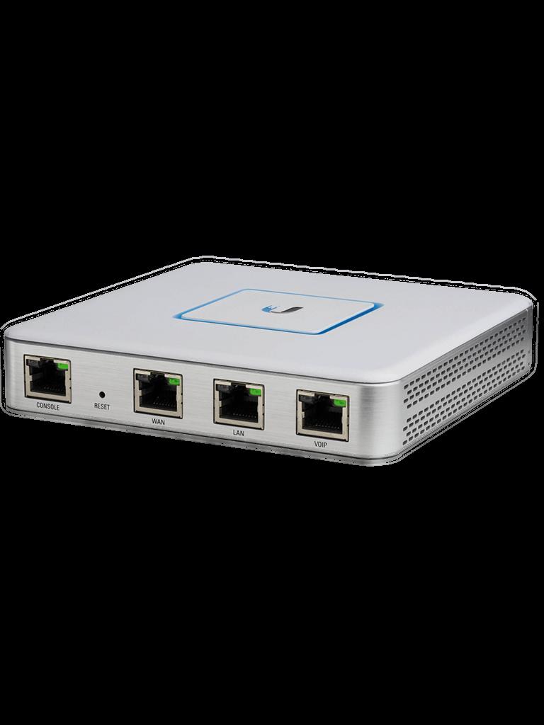UBIQUITI USG - Ruteador UniFi Security Gateway / 1 Puerto WAN Fast Ethernet / 3 Puertos LAN Gigabit Ethernet / Potente firewall / Compacto y Silencioso