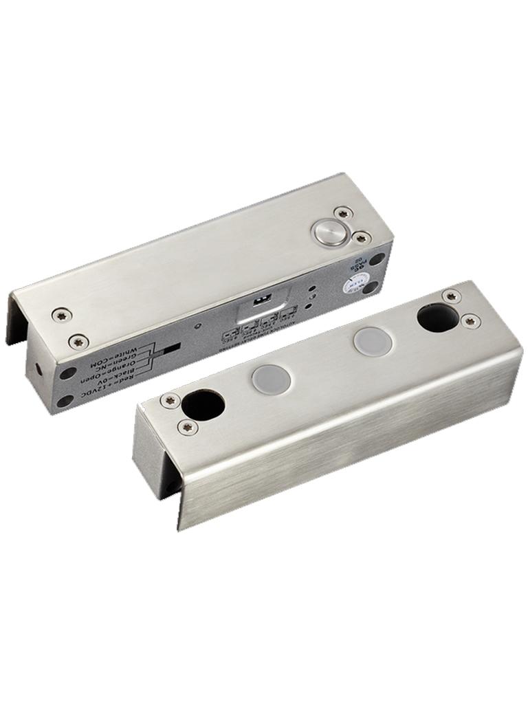 YLI YB500U - Chapa magnetica para puerta de vidrio sin marco / 12 VDC / Tiempo de vida de 500000 aperturas