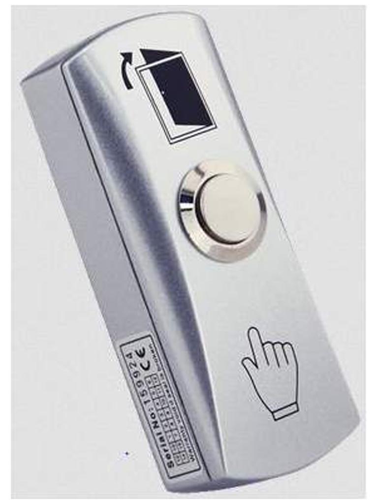 YLI PBK815 - Boton liberador de puerta de aluminio con caja integrada para facil instalacion / Funcion NO