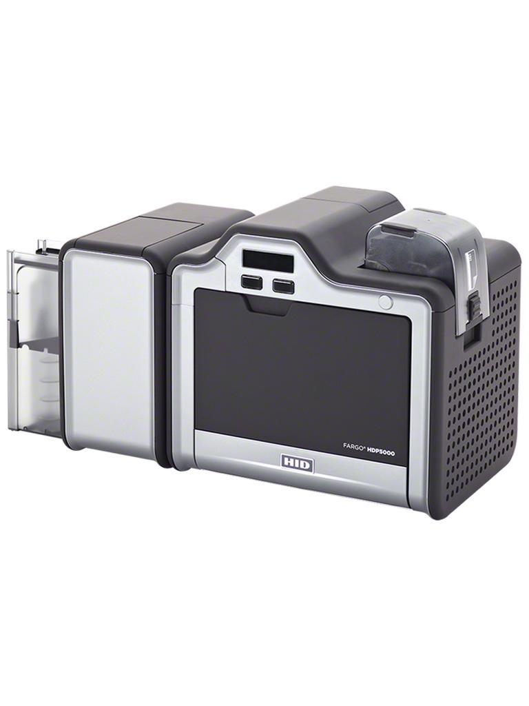 HID HDP5000DS - Impresora de tarjetas a doble cara / Impresion de alta calidad / Hasta 90 tarjetas por hora / Soporta crecimiento de modulos