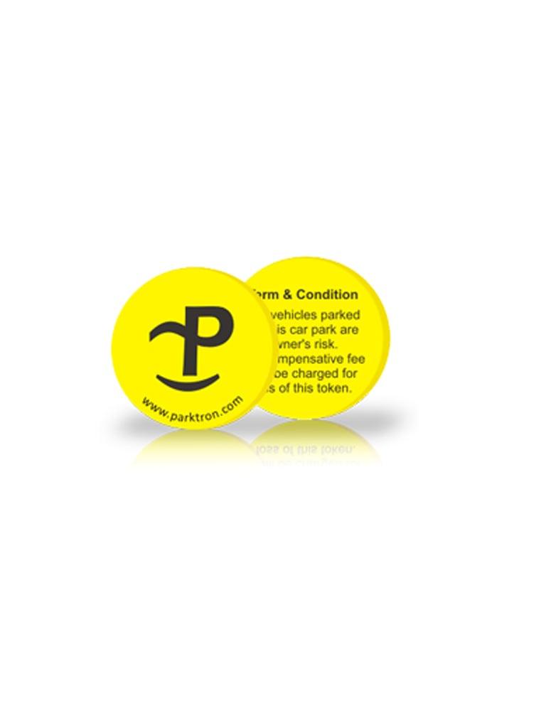 PARKTRON PPSCC1 - CHIPCOIN MIFARE Para sistema de cobro de estacionamiento / 10,000 Escrituras / 500 Piezas / Compatible con terminales PARKTRON