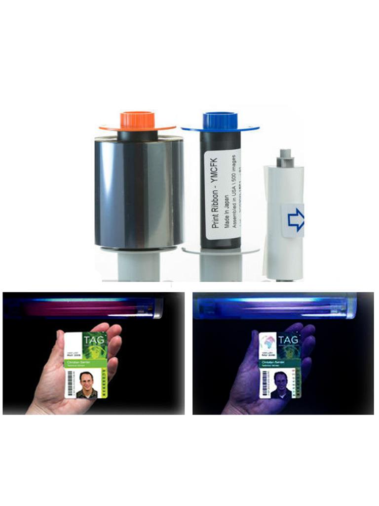 HID CINTA84061 - Cinta para 500 impresiones / Tinta  YMCFK / Compatible  HDP5000 / Con un panel FLOURECENTE