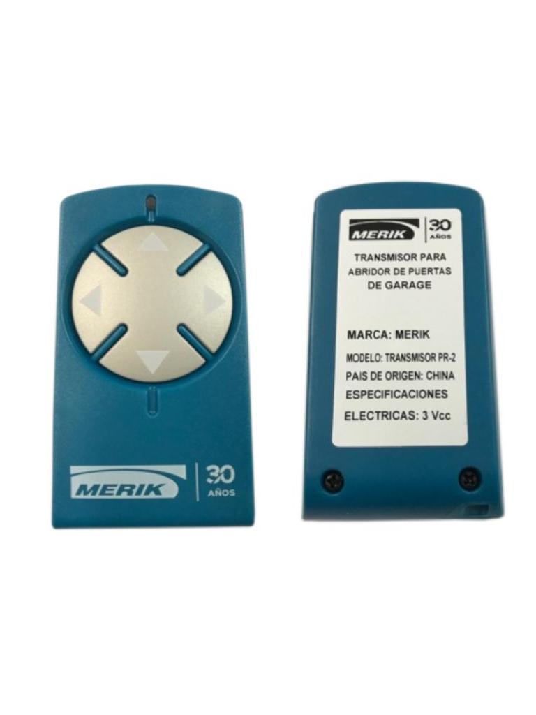 MERIK PR2 - Control transmisor 4 canales 433  Mhz compatible con brazos para puertas ABATIBLES