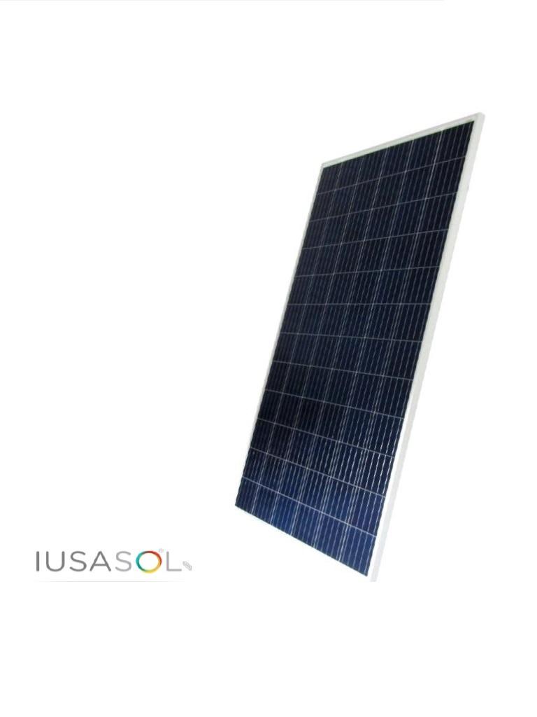 IUSASOL PV06330A - Panel fotovoltaico 330W / Policristalino / 72 Unidades de celulas cristalinas / Vidrio templado de 3.2  mm ANTIREFLEJANTE