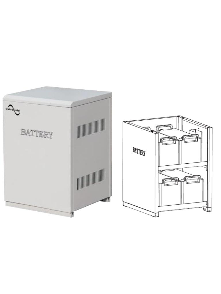 DATASHIELD ME - 5150B- Banco de baterias solares con 4 baterias MI-4235 INLCU IDAS / Tiempo de respaldo para IS-1000 4:30 HRS / Tiempo de respaldo para IS-3000 1:00 HRS. / 131.40  Kg, / L 462  mm *H 660 mm *W 480 mm.
