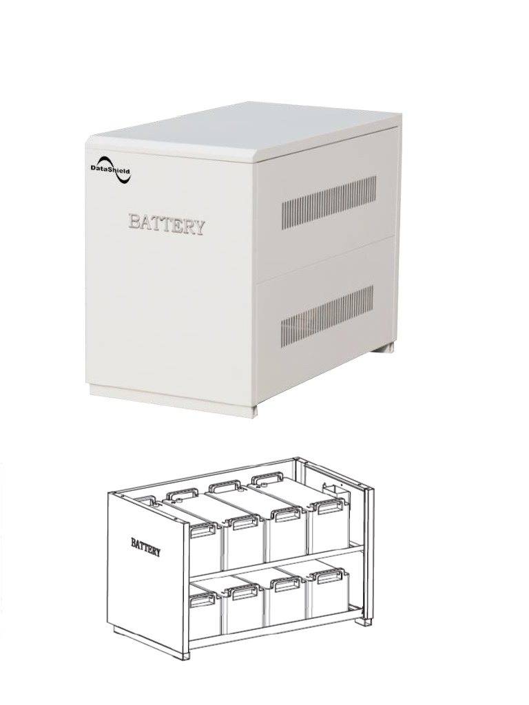 DATASHIELD ME - 5151B- Banco de baterias solares con 8 baterias MI-4235 incluidas / Tiempo de respaldo para IS-1000 11:00 HRS / Tiempo de respaldo para IS-3000 2:30 HRS. / 248.9  Kg, / L 820  mm *H 660  mm *W 480  mm.