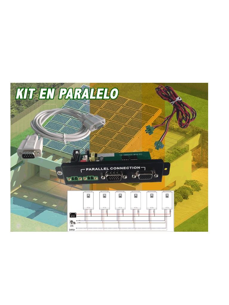 DATASHIELD PC 3715 - Kit en paralelo para INTERCONECTAR multiples inversores con un maximo de 6 UN IDADES, en una sola FASE, CAPAC IDAD maxima de 18KVA.