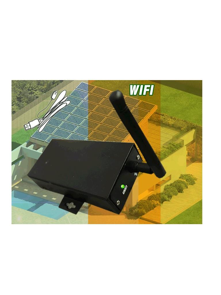 DATASHIELD PC 3709 - Dispositivo  WiFi recopila datos de los inversores conectados y los transmite al centro de datos en linea a traves de una red inalambrica