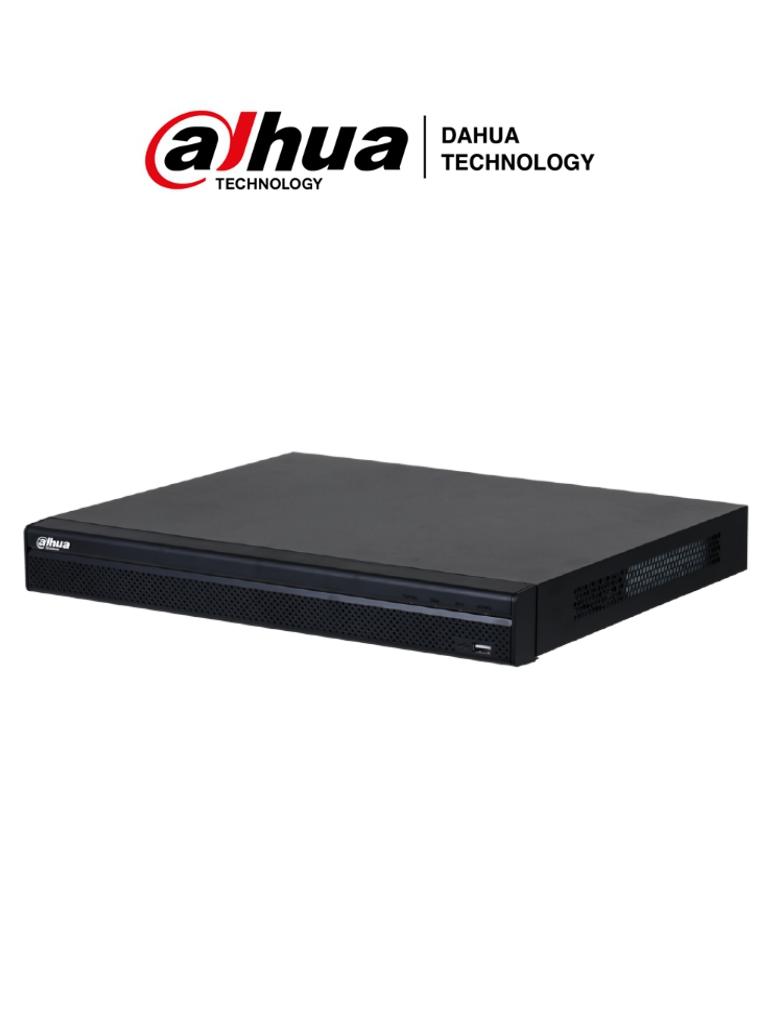 DAHUA NVR4208-8P-4KS2/L - NVR de 8 Canales 4k/ Serie Lite/ 128 MBPS/ 8 Puertos PoE/ H.265+/ 2 Bahías de Discos Duros