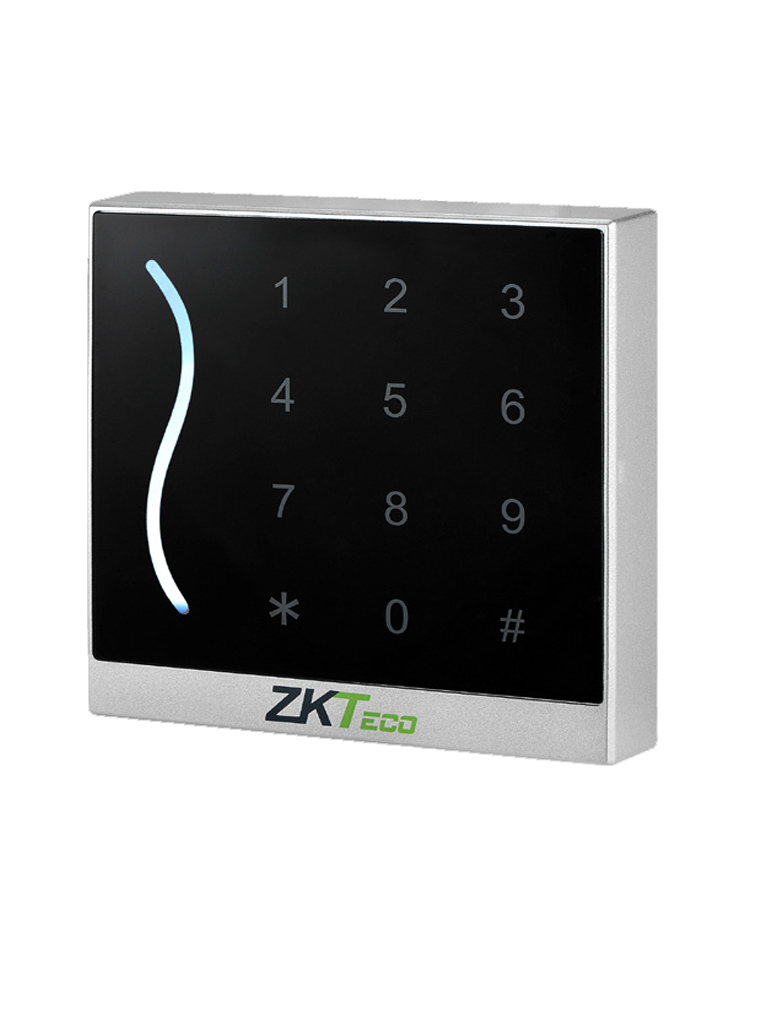 ZK PROID30BE- LECTOR ESCLAVO DE TARJETAS ID 125 KHZ / GREEN LABEL / WIEGAND 26 O 34 AJUSTABLE / TECLADO TOUCH / IP65 / COLOR NEGRO