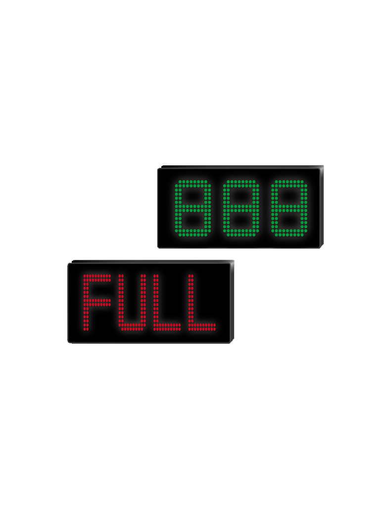 PARKTRON DISPLAY3DIG - Pantalla display de 3 digitos / Comunicacion con terminal de entrada / Conector  RS485 a  RS232 / 110V