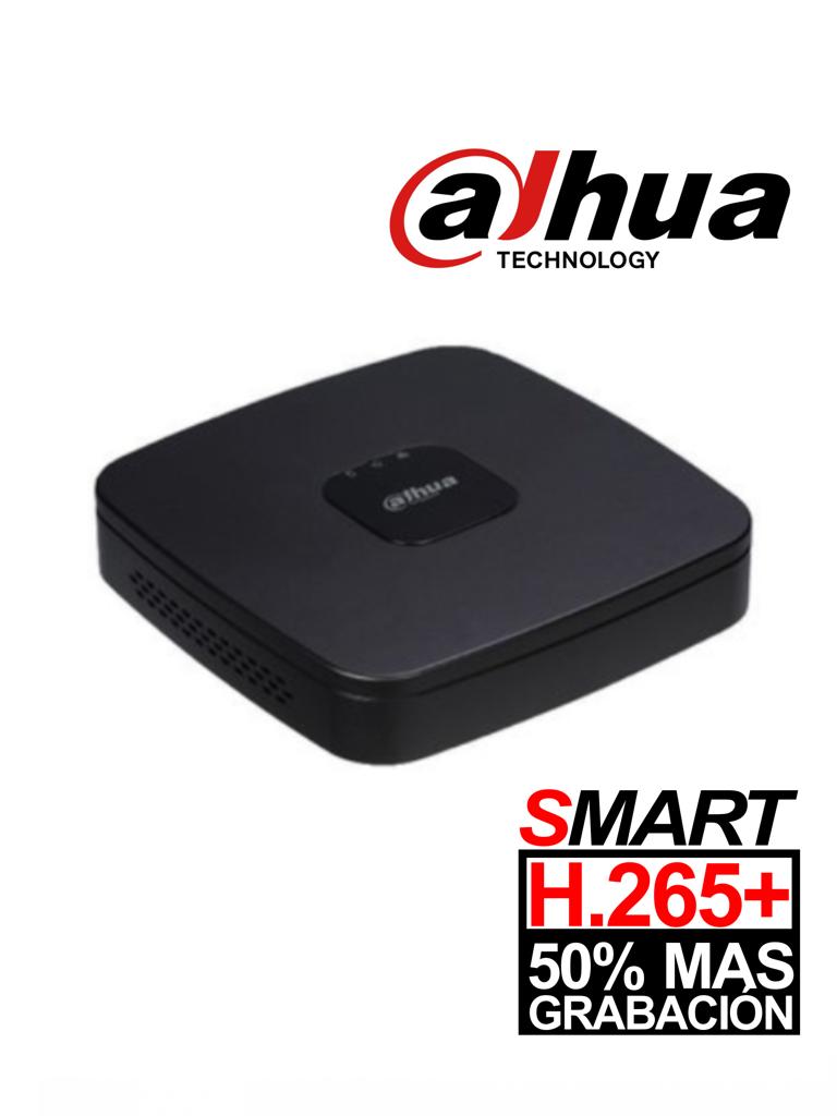 DAHUA XVR4108CNX1 - DVR 8 Canales  HDCVI pentahibrido  1080p  Lite / H265+ /  HDMI / VGA / 2 Ch IP adicionales 8+2 / 1 SATA Hasta 6TB / P2P / Smart audio  HDCVI/ #NuevoPrecio