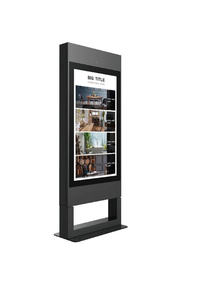 DAHUA LDV65HAO200 - Pantalla comercial  LCD de 65 pulgadas / Visualizacion digital / Video / Imagenes / Audio / Texto / Carcasa metalica / Exterior