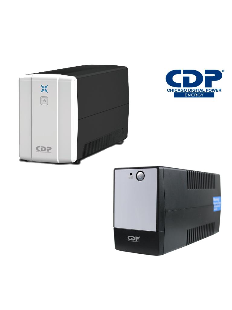 CDP RUPR758 - UPS de 750 VA / 375 Watts / 8 Terminales de salida / 4 Con respaldo / 4 Terminales de supresion de picos