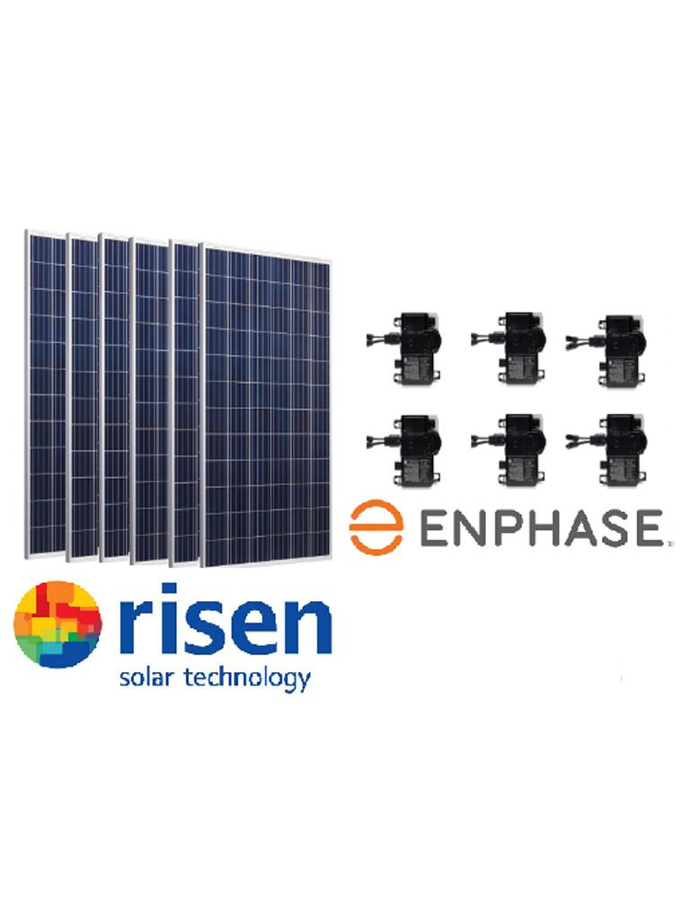PROMO SOLAR SIXPACK 6 PANELES SOLARES RISEN 330W/ 6 MICROINVERSORES ENPHASE