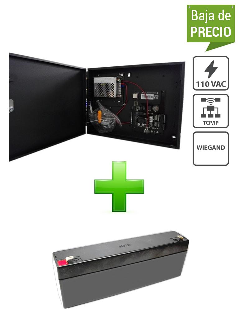 ZKTECO C3100BPACK - Control de Acceso Profesional / para 1 Puerta / 2 Lectoras de Tarjeta / PULL / Gabinete y Fuente / Sin Biometría / incluye Batería de respaldo