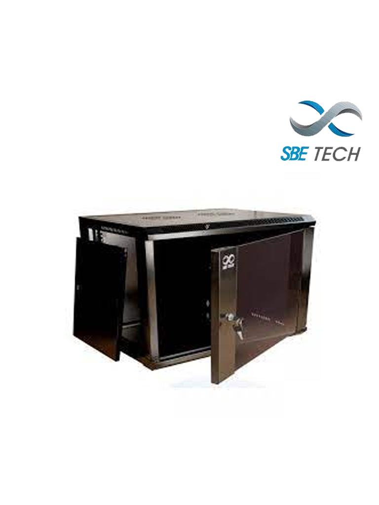 SBETECH GNLPAR9UR- Gabinete de pared / 9 UR / Profundidad 450 mm / Puerta delantera de cristal templado