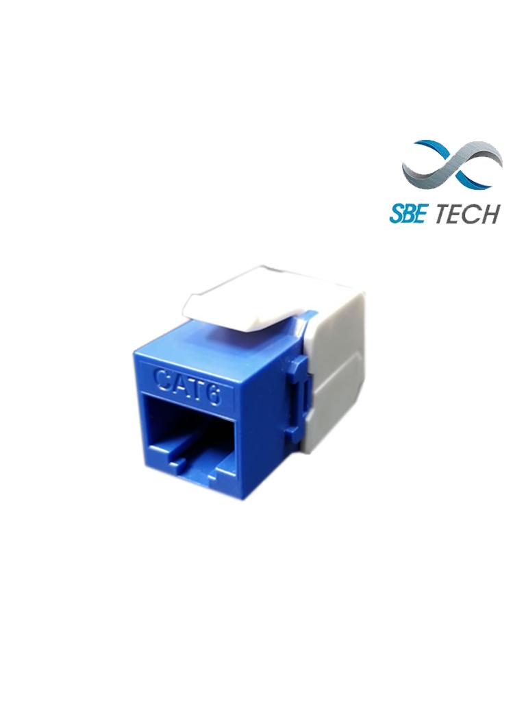 SBETECH JACKC6BL- Modulo jack keystone RJ45 / 8 Hilos / CAT 6 / Compatible con calibres AWG 22-26 / Color azul
