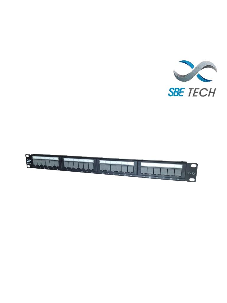 SBETECH PPC624P - Panel de parcheo categoría 6/ 24 puertos