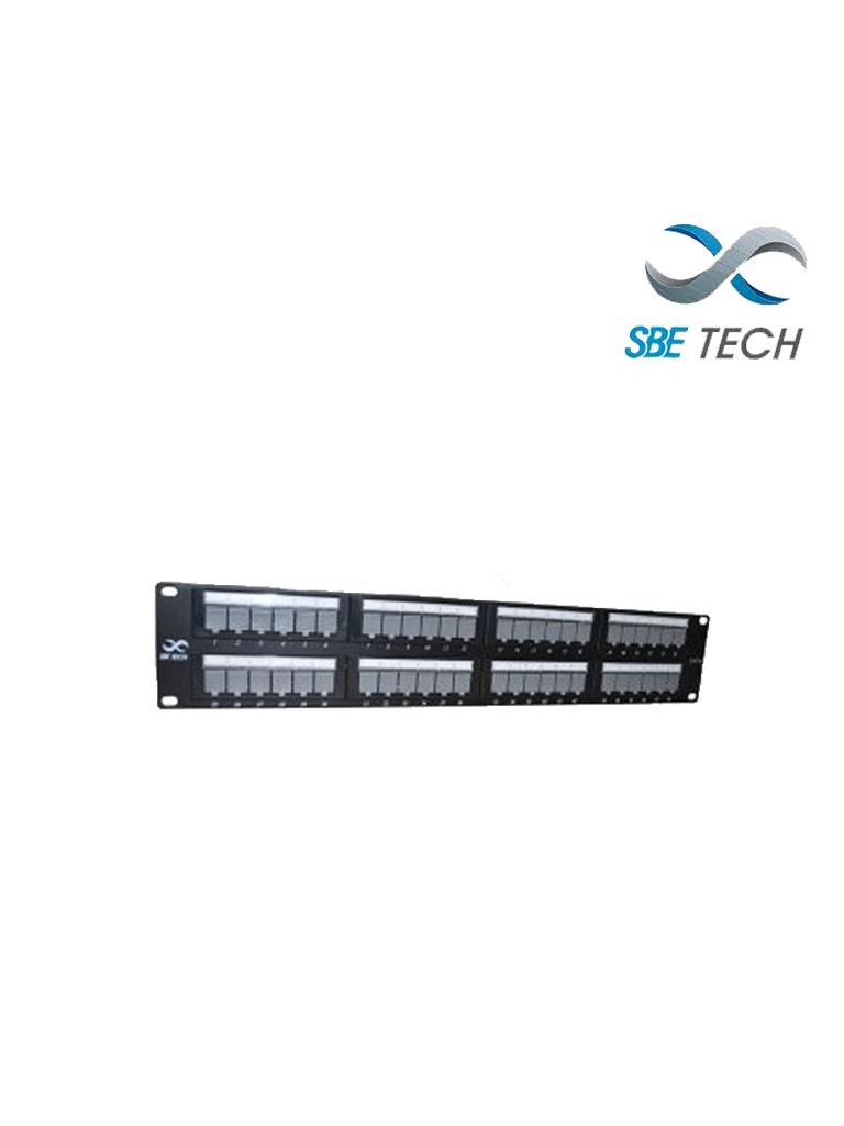 SBETECH PPC648P - Panel de parcheo categoría 6/ 48 puertos