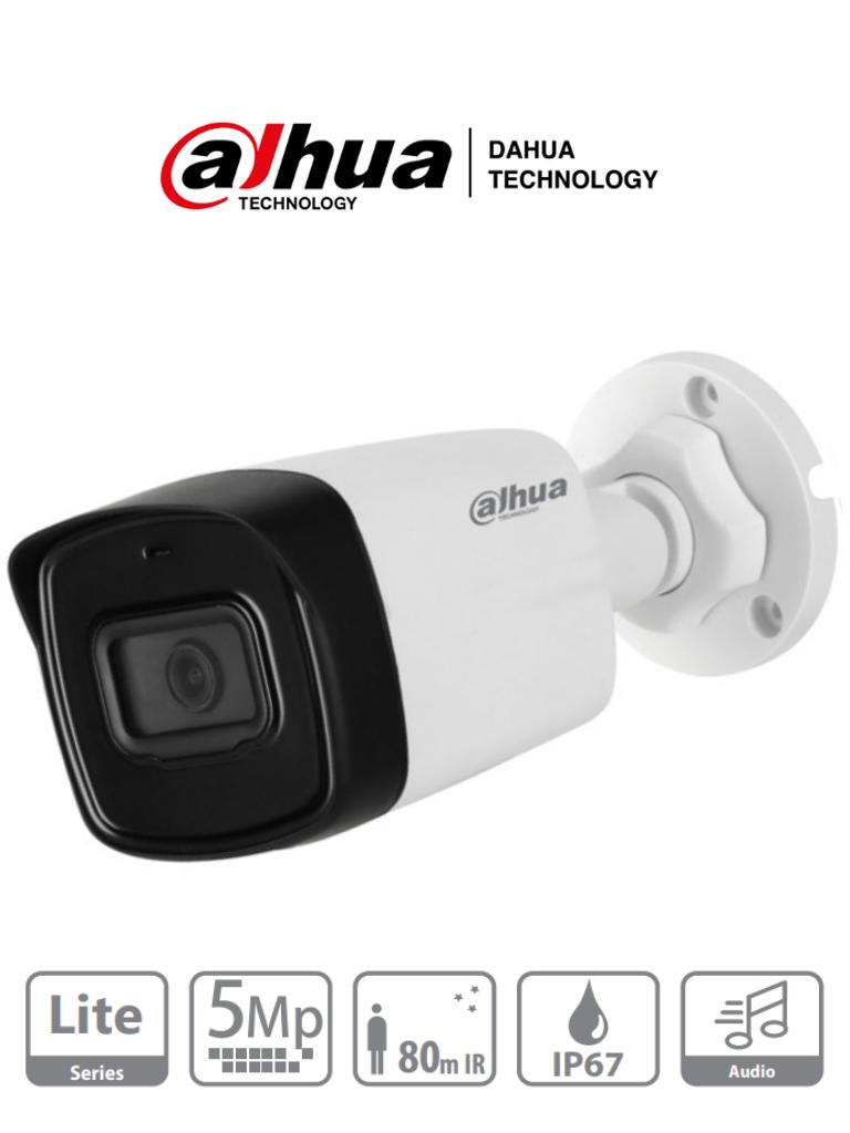 DAHUA HAC-HFW1500TL-A-28 - Camara Bullet de 5 Megapixeles/ Microfono Integrado/ Lente de 2.8mm/ IR de 80 Mts/ IP67/ Starlight/ CVI/CVBS/AHD/TVI/