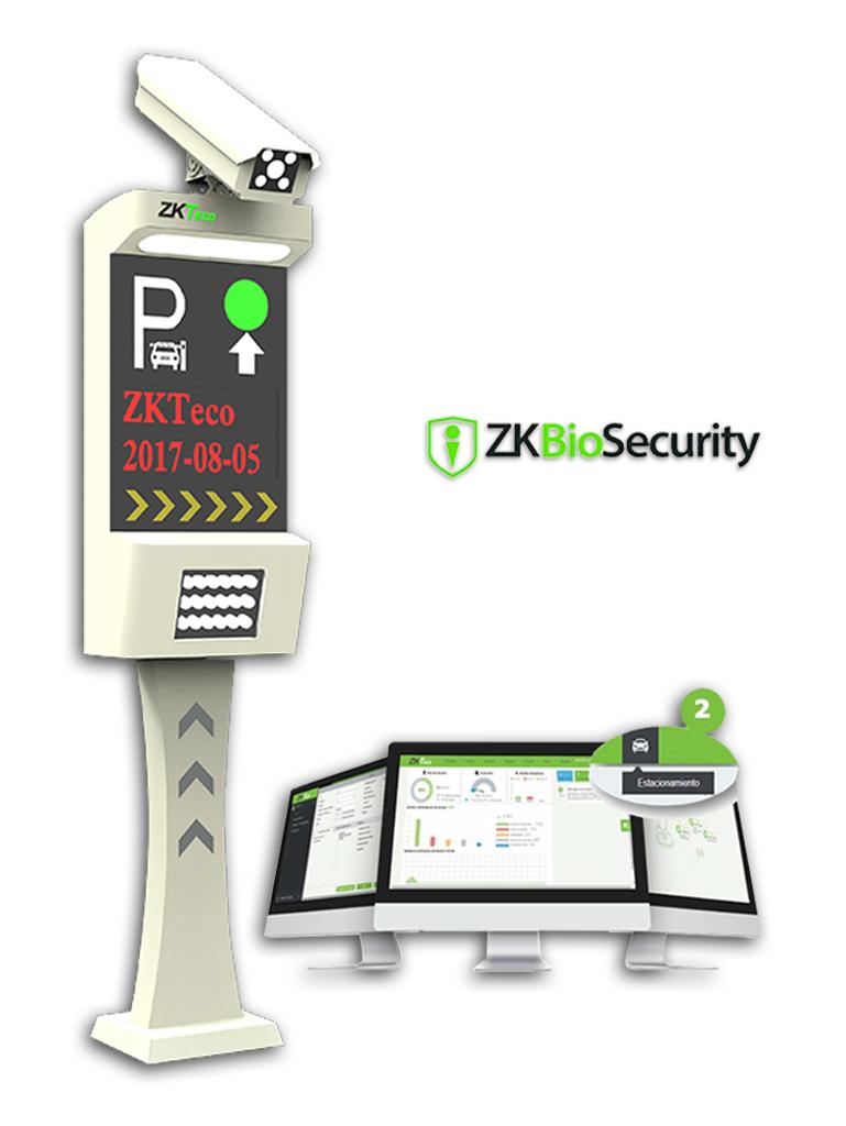 ZKTECO LPRSBio1000 - Control de Acceso Vehicular por medio de Lectura de Placas / Un Carril Pantalla LCD / Audio Integrado / Conexión TCP/IP / Modulo de Estacionamiento de Biosecurity para 2 cámaras Incluído