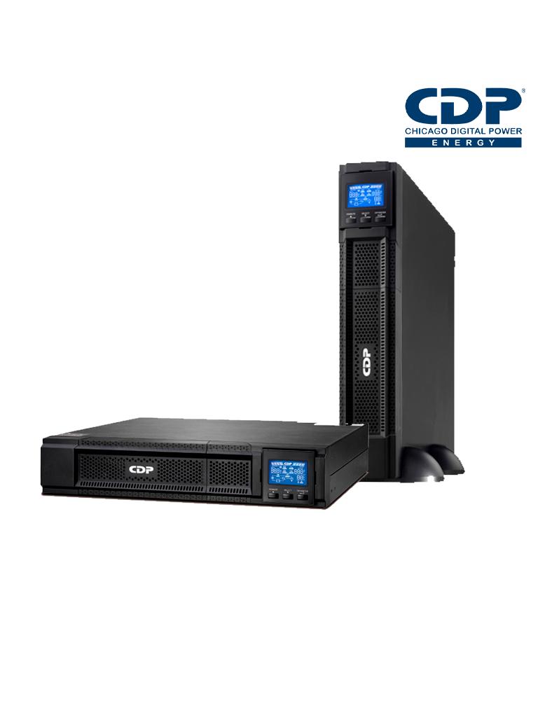 CDP UPO113RTAX- UPS ONLINE 3 KVA / 2700 Watts / 4 Terminales de salida / Baterias 12V / 9AH X 6 / Respaldo 4 MIN carga completa