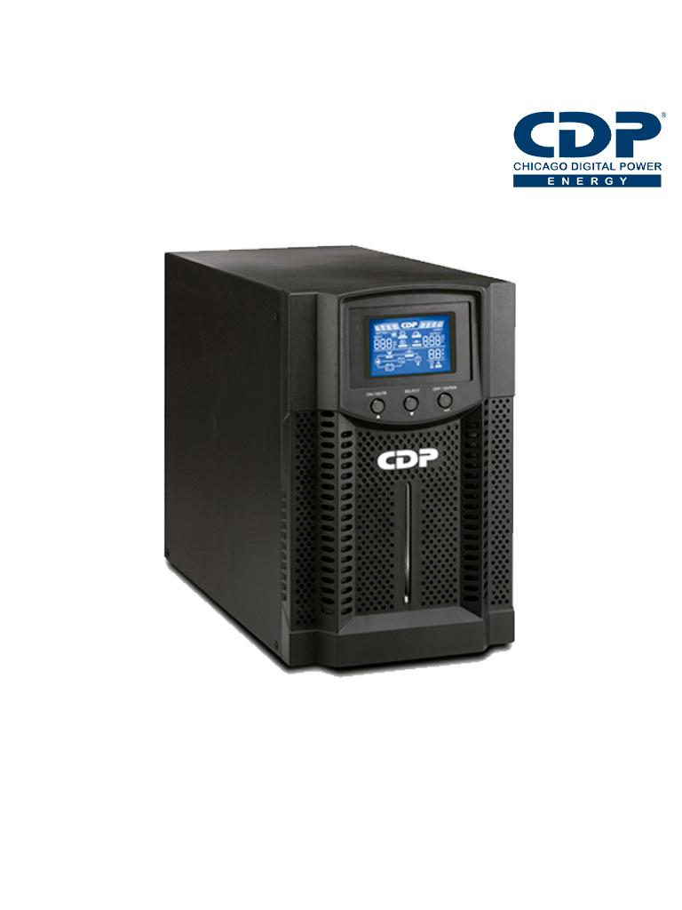 CDP UPO112AX- UPS Online de 2 KVA/ 1800 Watts/ 8 Terminales de las cuales 4 son programables/ Pantalla LCD/ Entrada para banco de baterias/ Respaldo 6 minutos carga completa