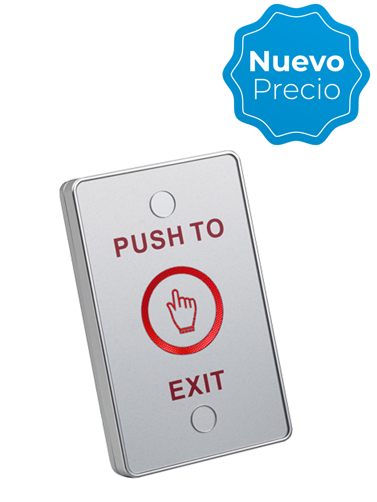 YLI TSK830ALED - Boton liberador touch con iluminación LED para exteriores e interiores con IP68 salidas NO y NC, No requiere caja de instalación/ #NuevoPrecio