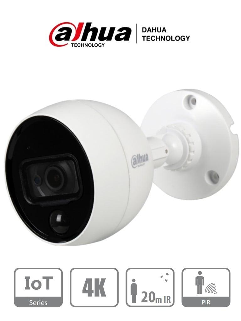 DAHUA ME2802B - Camara Bullet IoT 4K/ 8 Megapixeles/ Lente de 2.8 mm/ 110 Grados de Apertura/ WDR Real 120 dB/ PIR Inteligente/ IP67/ Compatible con DVRs WizSense