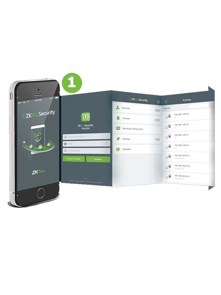 ZKTECO ZKBSAPPP1 - Licencia para APP Móvil Biosecurity / iOS / Android / Para un Celular