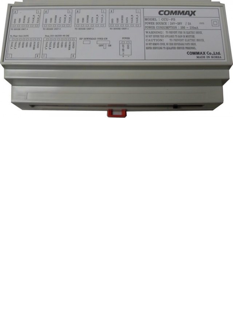 COMMAX bCCUFS - Distribuidor de piso para videoporteros / Soporta hasta 4 videoporteros / Multi ENTRY