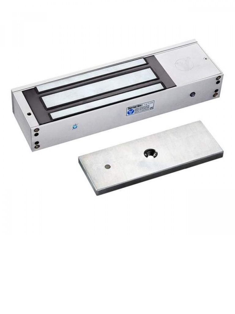 YLI YM750TLED - Contrachapa magnetica con luz  LED / Interiores / 750  Kg / 1500  Lb / Voltaje dual / Puertas madera, vidrio, metalicas