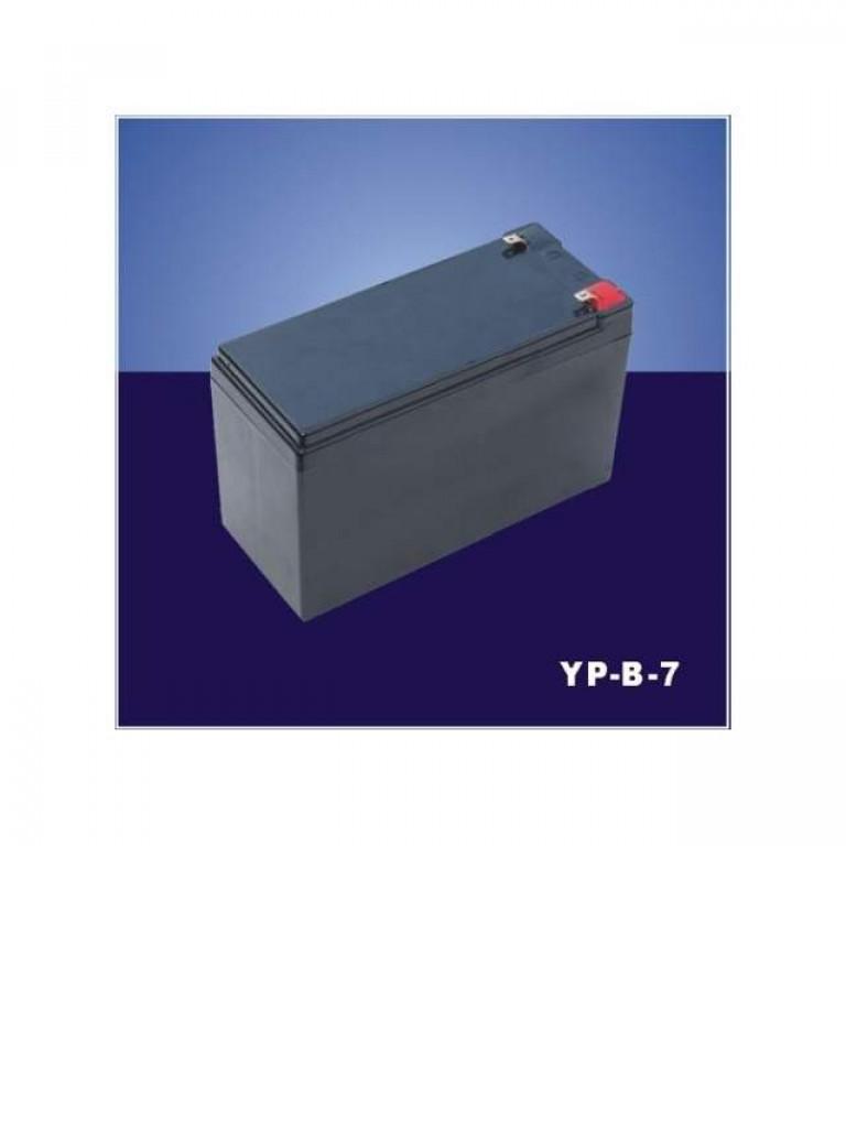 YLI UPSYPB7 - Bateria de respaldo recargable de 12 VDC 7 ampere hora / Libre de mantenimiento / Facil instalacion / Dispositivos a 12 VDC compatible con DSC