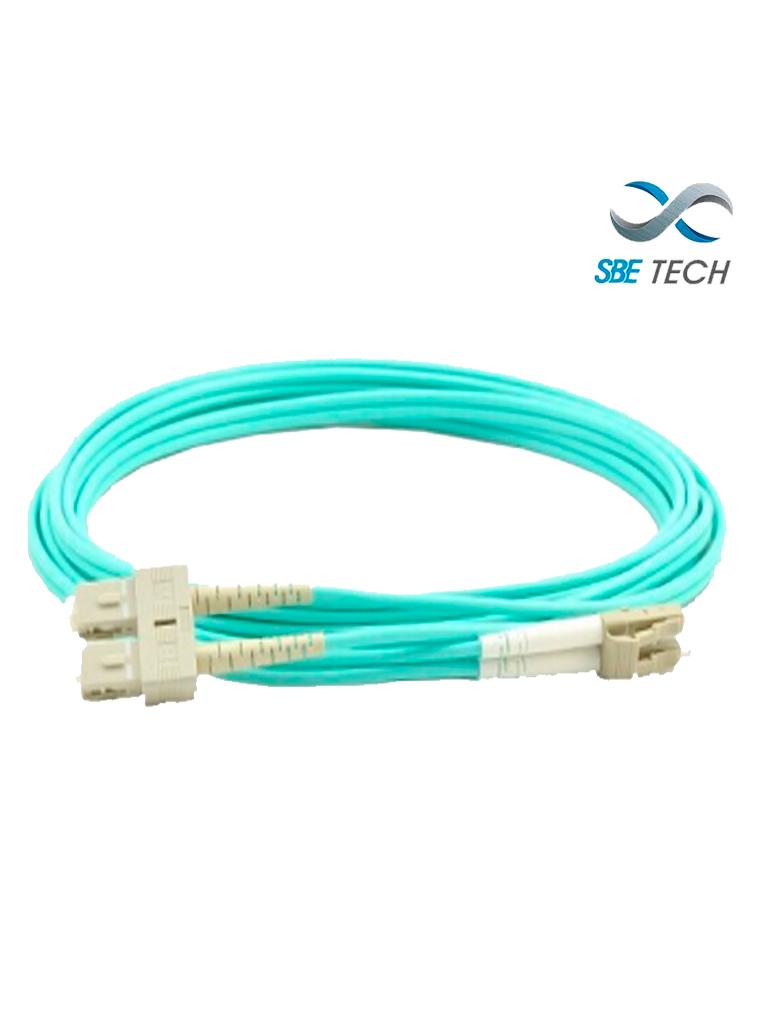 SBETECH SBE-JUMLC-SC-1M50 - Jumper LC-SC MM 50/125 OM4 duplex 2 mm, 1 metro, UPC