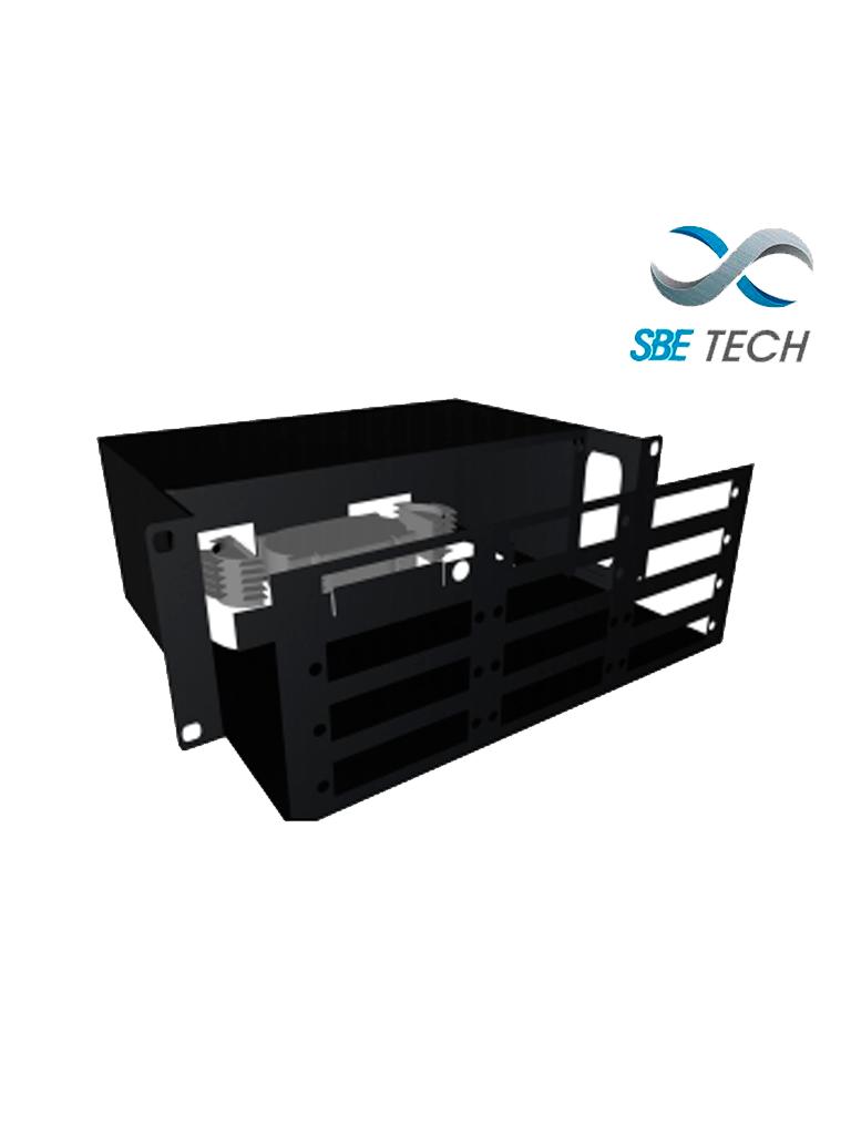 SBETECH SBE-DFO12/24- Distribuidor de Fibra Optica hasta 24 coples