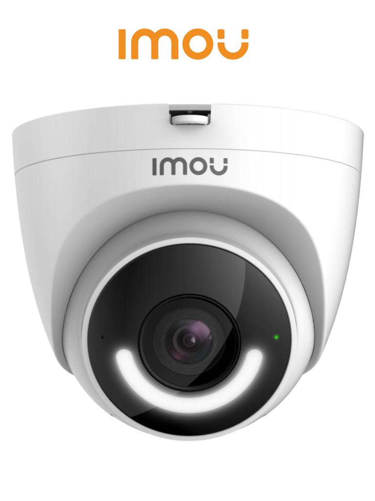 IMOU Turret - Camara IP Domo Wifi de 2 Megapixeles/ Disuasión activa/ Sirena Integrada/  Led de Alta Potencia/ Microfono Integrado/ Audio Bidereccional/ Detección de Humanos/ IR 30 Mts/ IP67/ Ranura para MicroSD/ #LoNuevo
