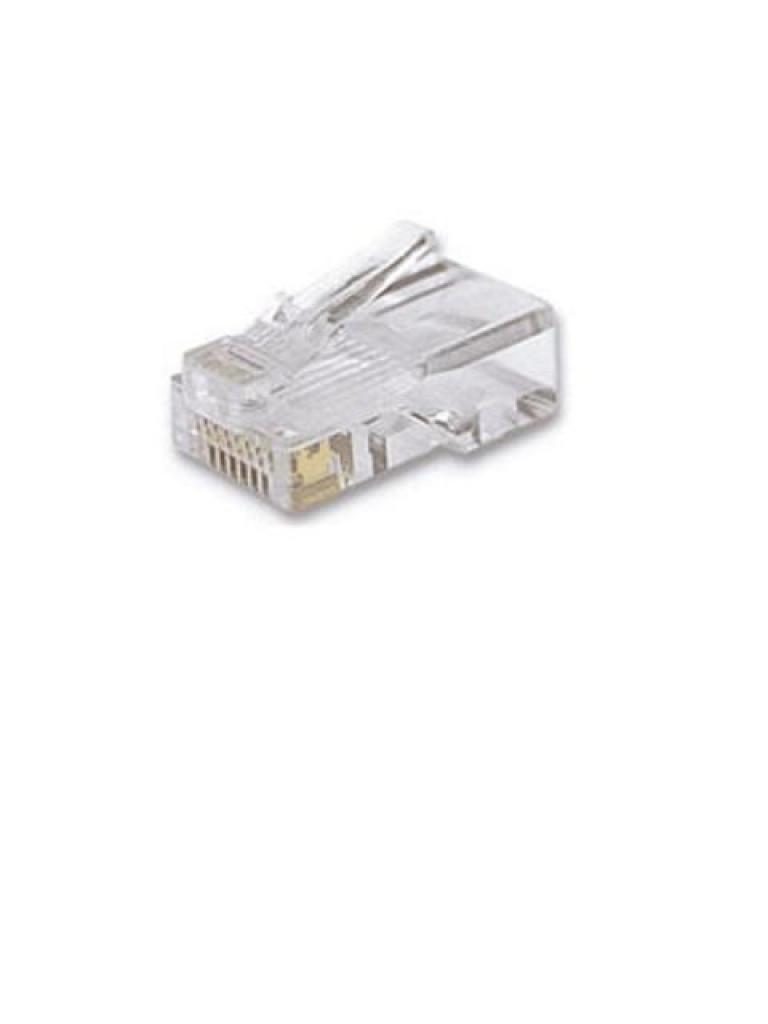 TVC aADTMP5EU8P8C- BOLSA DE 100 CONECTORES MODULARES CABLE UTP/CAT 5E/ 8 HILOS RJ45
