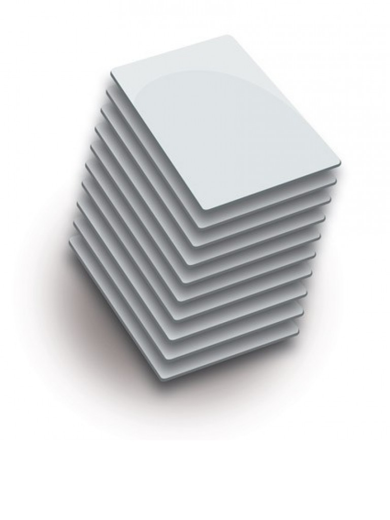 ZKTECO MFCARDP - Paquete de 200 Tarjetas Blancas Mifare 13.56 Mhz / PVC / Imprimibles / 1K