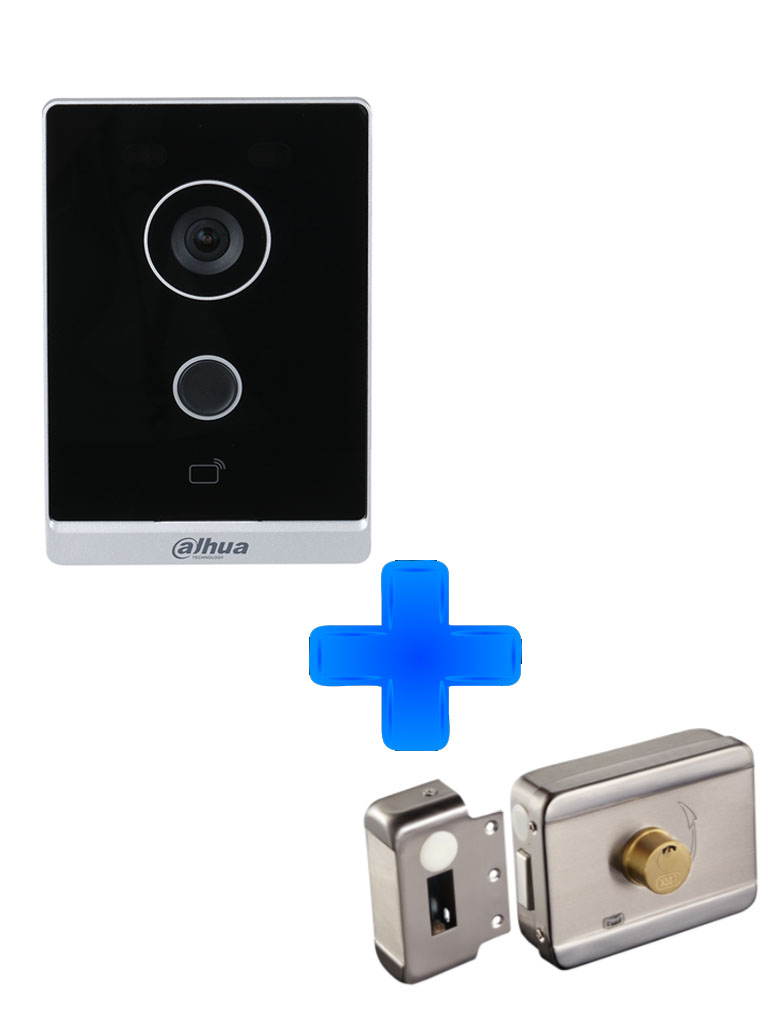 DAHUA VTO2211G-WP - Frente de Calle Wifi Independiente/ Cámara de 2 Megapixeles/ IP65/ P2P / Cerradura inteligente #Videoportero