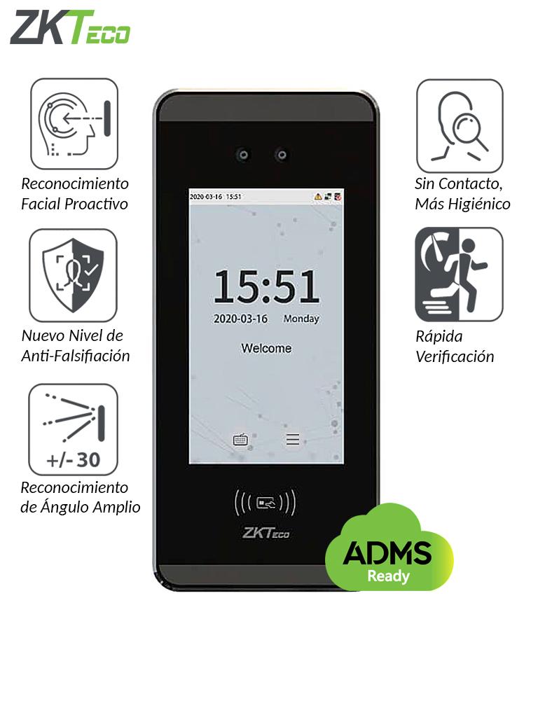 ZKTECO MINIACPLUS - Control de Acceso y Asistencia Facial Visible Light  / 3000 Rostros / 3000 Tarjetas  ID 125KHz / ADMS / #MTD / #NuevoZK / #TVCalGritodeMexico / #Monedero