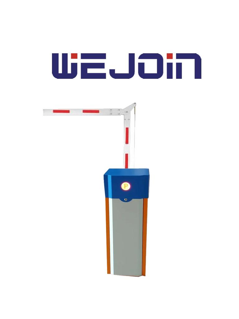 WEJOIN WJCB01SVIR23 - Barrera Vehicular derecha de uso rudo / Servo Motor / Brazo Octagonal Articulado De 3 Metros A 90 Grados / Velocidad 3 segundos / Izquierda o Derecha