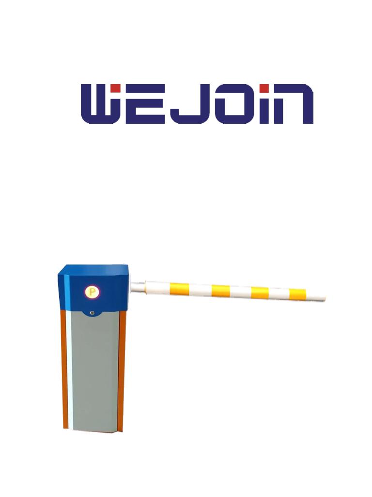 WEJOIN WJCB01SVHL13F - Barrera Vehicular izquierda de uso rudo / Servo Motor / Brazo cilíndrico cubierto de esponja de 3 metros / Velocidad de 1.8 segundos / Brazo Oscilante / Izquierda o Derecha