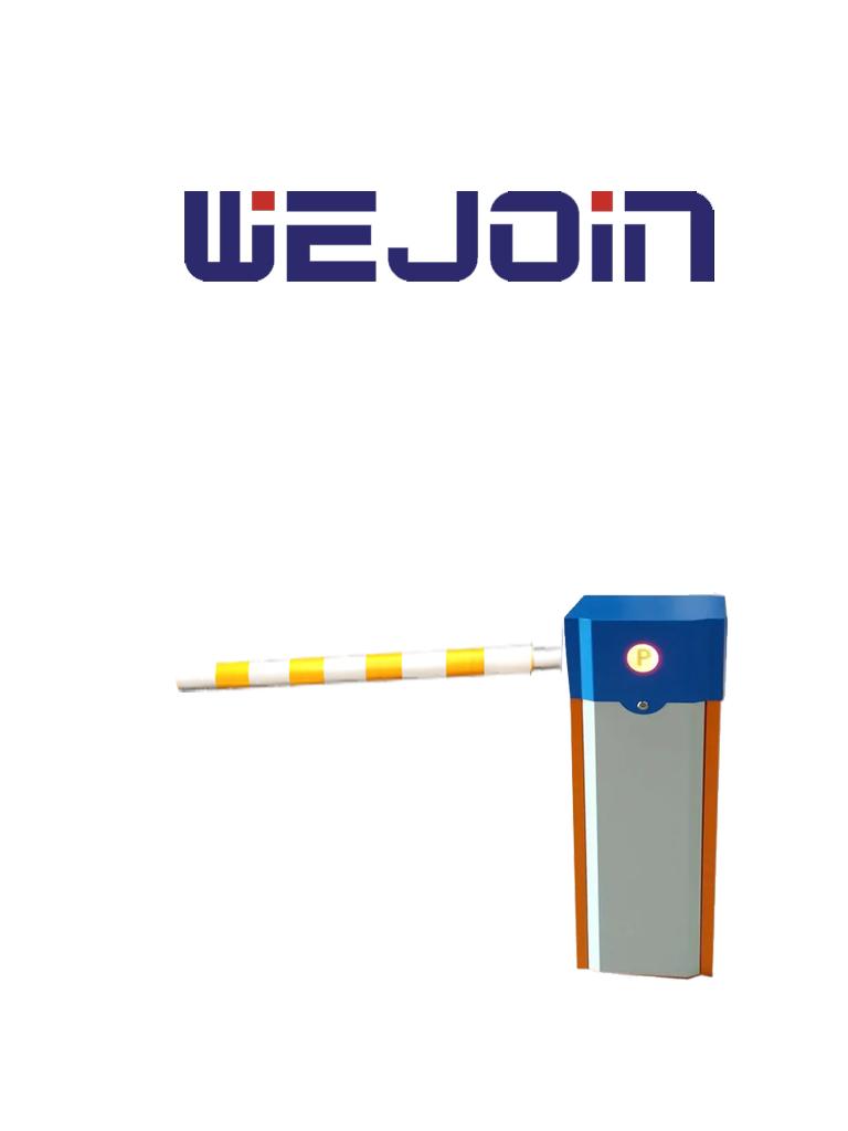 WEJOIN WJCB01SVHR13F - Barrera Vehicular derecha de uso rudo  / Servo Motor / Brazo cilíndrico cubierto de esponja de 3 metros/ Velocidad de 1.8 segundos / Brazo Oscilante / Izquierda o Derecha