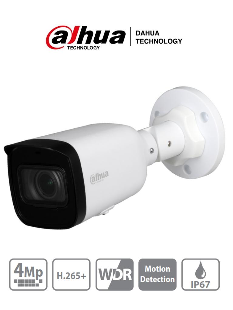 DAHUA IPC-HFW1431T1-ZS-S4 - Camara IP Bullet de 4 Megapixeles/ Lente Motorizado de 2.8 a 12mm/ H.265/ IR de 50 Metros/ WDR Real, 3D DNR/ Ranura para MicroSD/ IP67/ PoE