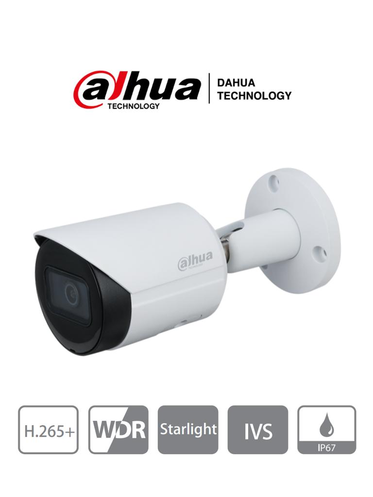DAHUA IPC-HFW2831S-S2 - Cámara IP Bullet 4k/ 8 Megapixeles/ H.265+/ WDR Real/ Lente de 2.8 mm/ IR 30 Mts/ IP67/ IVS/ Ranura MicroSD/ Poe