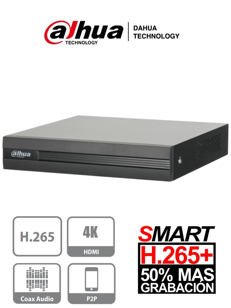 DAHUA COOPER XVR1B16H - DVR 16 Canales Pentahibrido 4 Megapixeles Lite/ Full 1080p/ H265+/ 8 Ch IP Adicionales 16+8/ IVS/ 1 Puerto SATA de Hasta 6TB/ P2P/ Smart Audio/