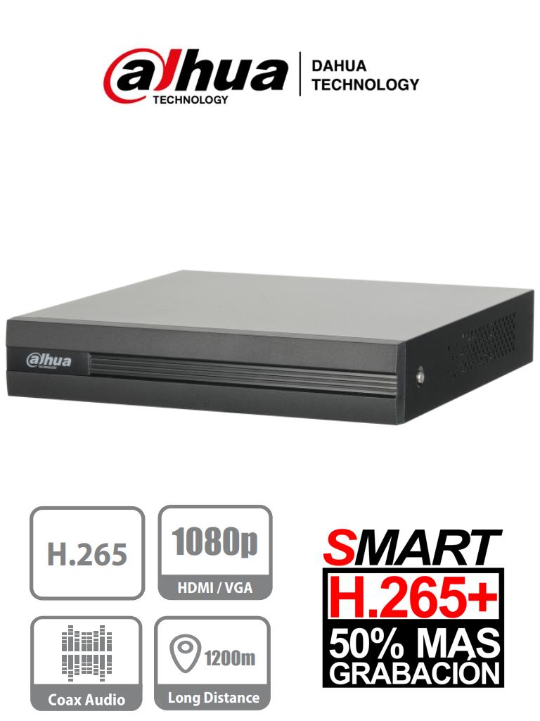 DAHUA COOPER XVR1B08H - DVR 8 Canales Pentahibrido 4 Megapixeles Lite/ 1080p/ 720p/ H265+/ 4 Ch IP adicionales 8+4/ IVS / 1 Bahia de Disco Duro de Hasta 6TB/ P2P/ Smart Audio/