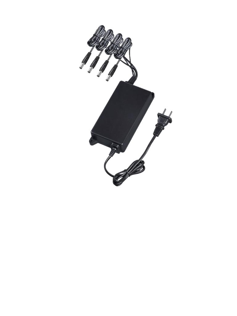 DAHUA PFM322 - Transformador de voltaje regulado / 12  VDC / 2.8A MP Total / 4 Canales / 0.7A MP Por canal / Proteccion de temperatura / Color negro